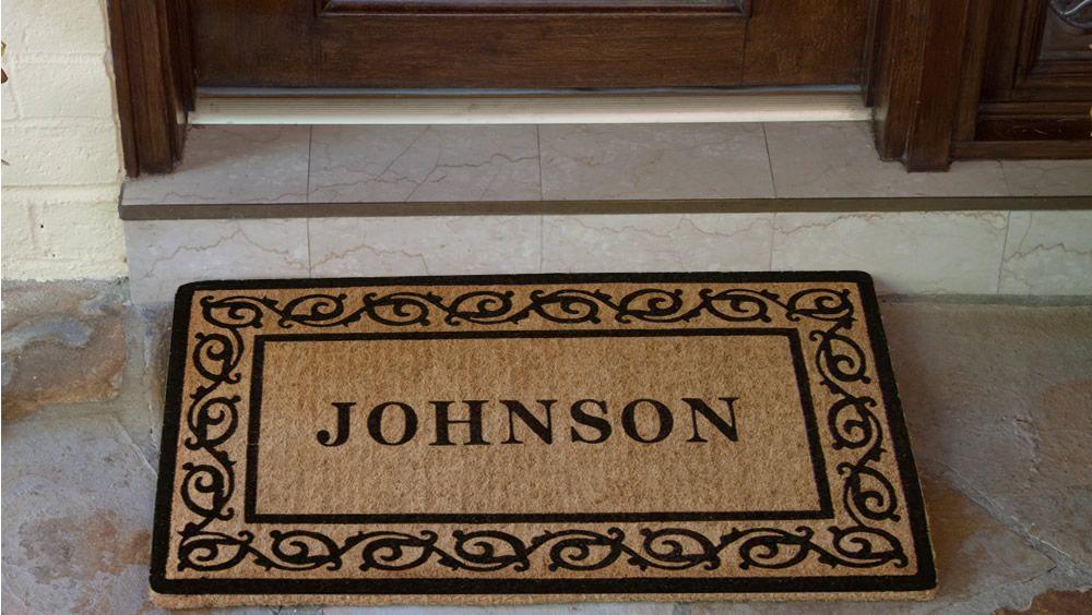 Unique Monogrammed Door Mat - http://www.carpbusters.com/?p=833 ...