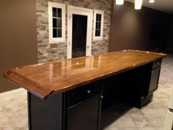 Genial Home Bar Top And Bar Rail Molding. Source For Bar Mouldings
