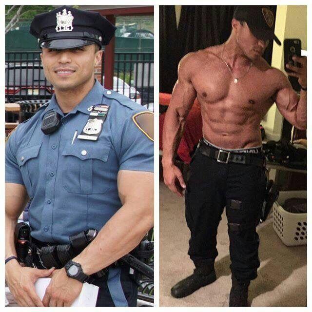 Gay muscle men in uniform