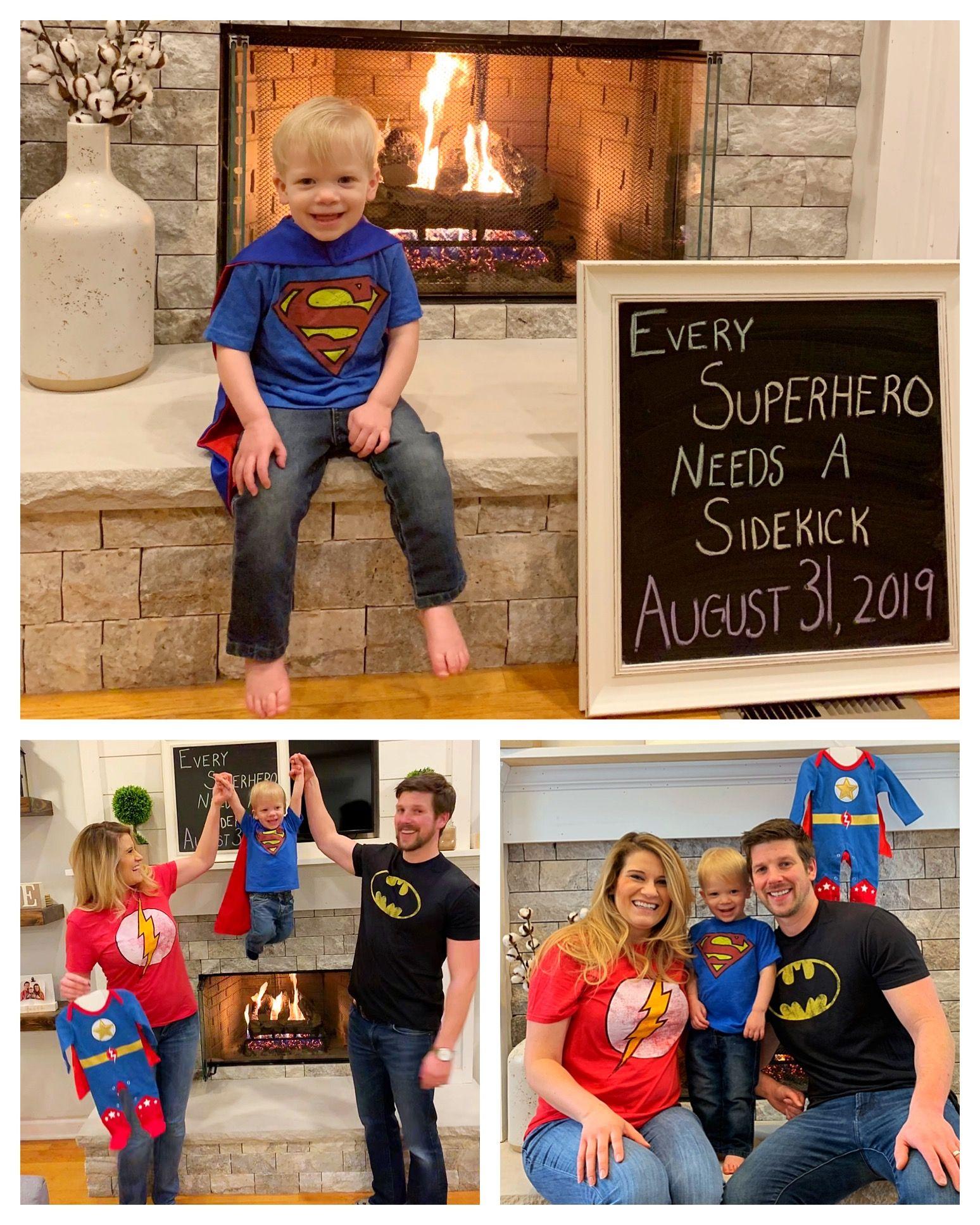 Every Superhero Need A Sidekick Big Brother Birth Announcement Superhero Birth Announcement Big Br Big Brother Announcement Birth Announcement Baby Shower Diy