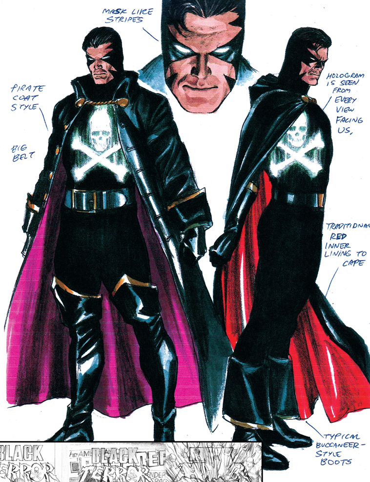 The Black Terror Concept Design - Alex Ross