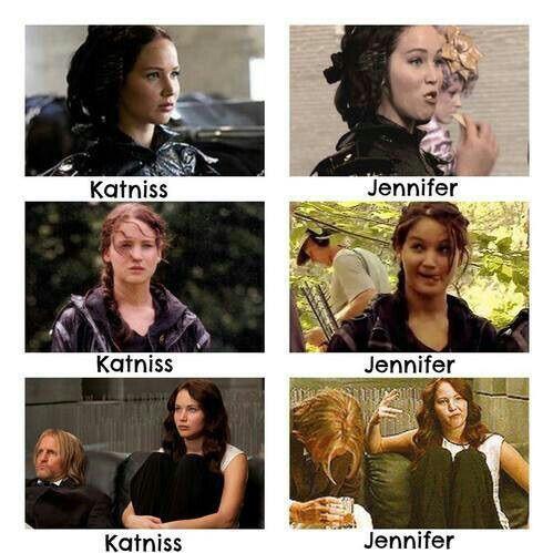 Image via We Heart It https://weheartit.com/entry/162640590/via/9561057 #behindthescenes #JenniferLawrence #katnisseverdeen #thg