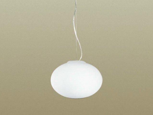 Blown glass pendant lamp BIANCOLATTE by Cattaneo Illuminazione design Studio Tecnico Cattaneo