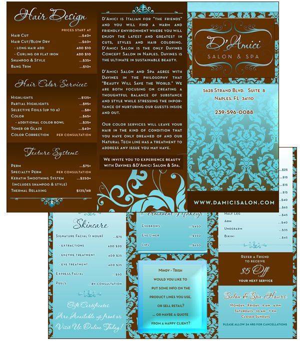 Spa Brochure Design | Brochure Ideas -trifold and single | Pinterest ...