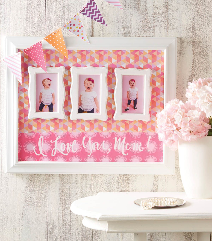 Bevel Wall Frame 16x20 White Finish Diy Mother S Day Frames