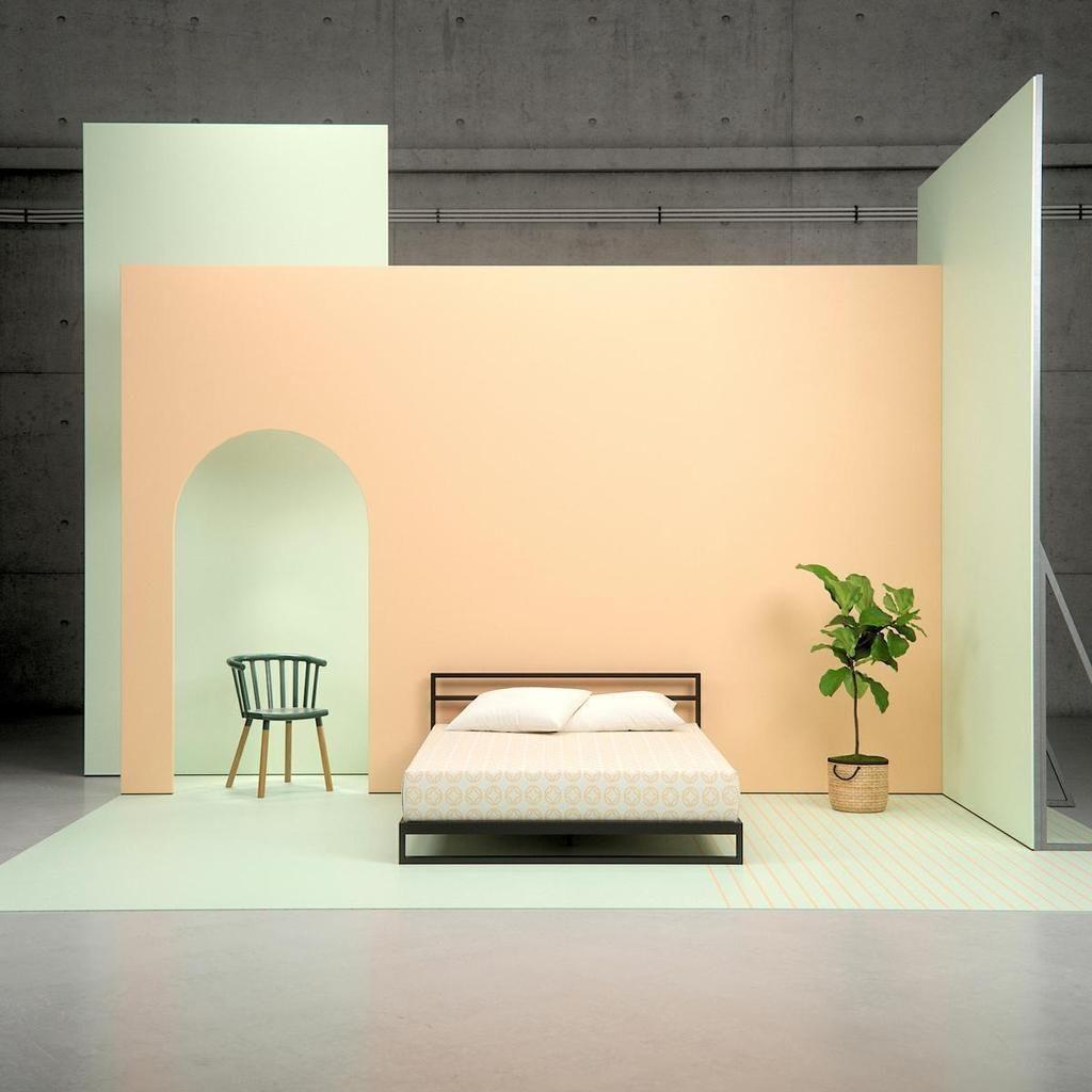 Trisha Metal Platform Bed Frame With Headboard Bed Frame And