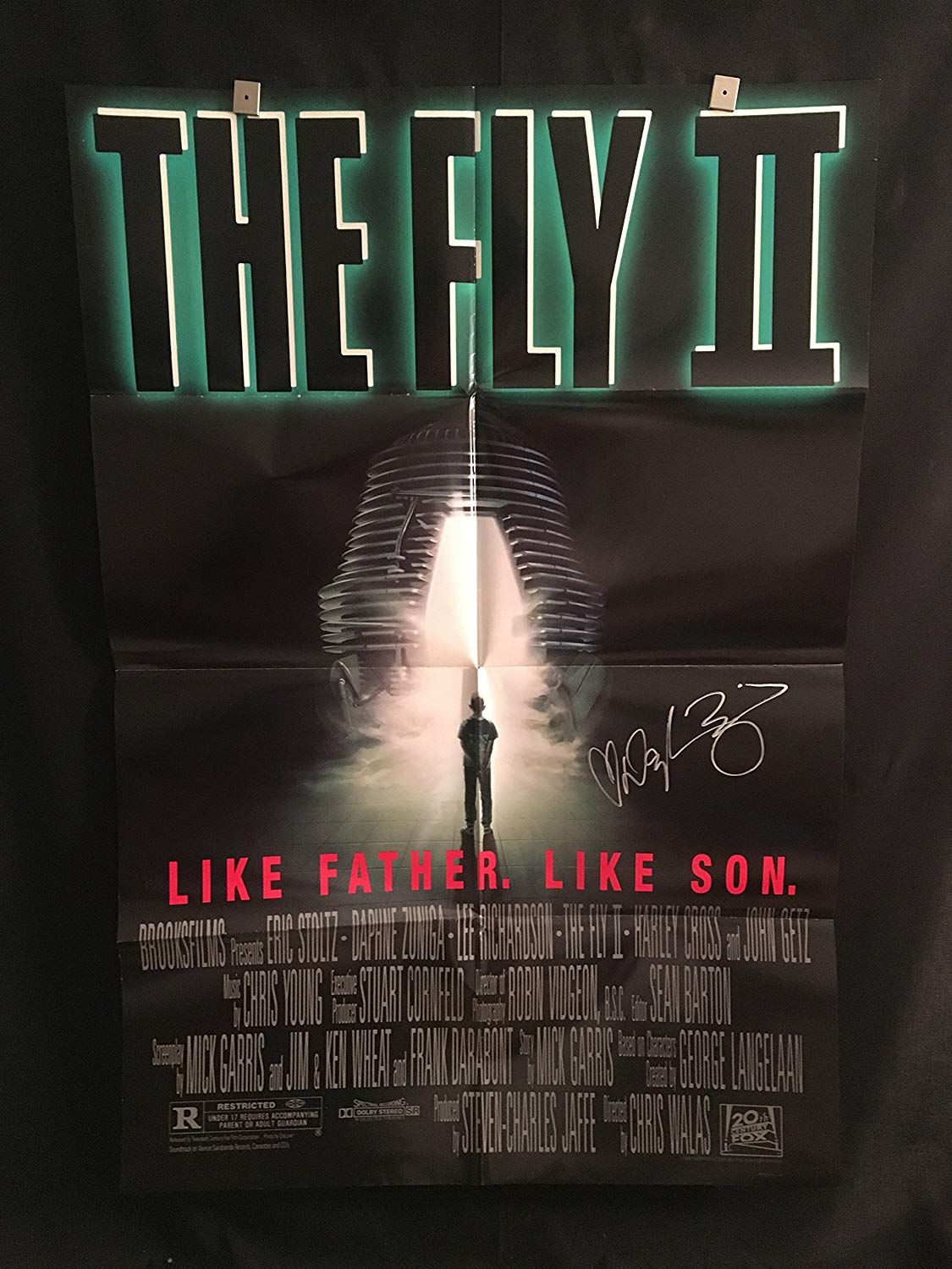 Halloween 2020 Autographed Poster The Fly 2 1989 Daphne Zuniga Signed Movie Poster, Horror in 2020