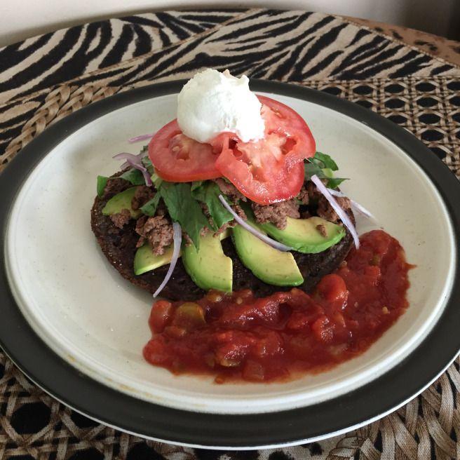 Casey's Black Bean Tostada – Recipe Corner | casey.2.cook #blackbean #tostada #nocarbs #yummy #delicious #avocado