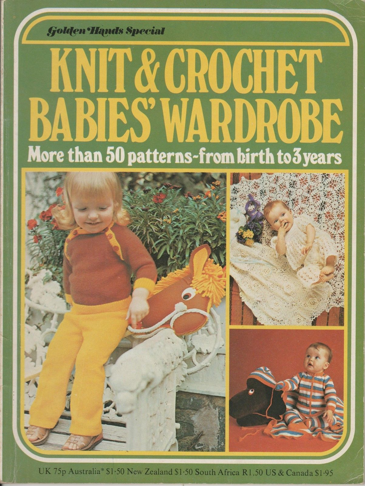 Vintage golden hands baby toddler knitting crochet pattern book 50 vintage golden hands baby toddler knitting crochet pattern book 50 patterns ebay bankloansurffo Image collections