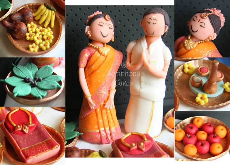 Mehndi Cake Toppers : Traditional south indian cake toppers ageatain