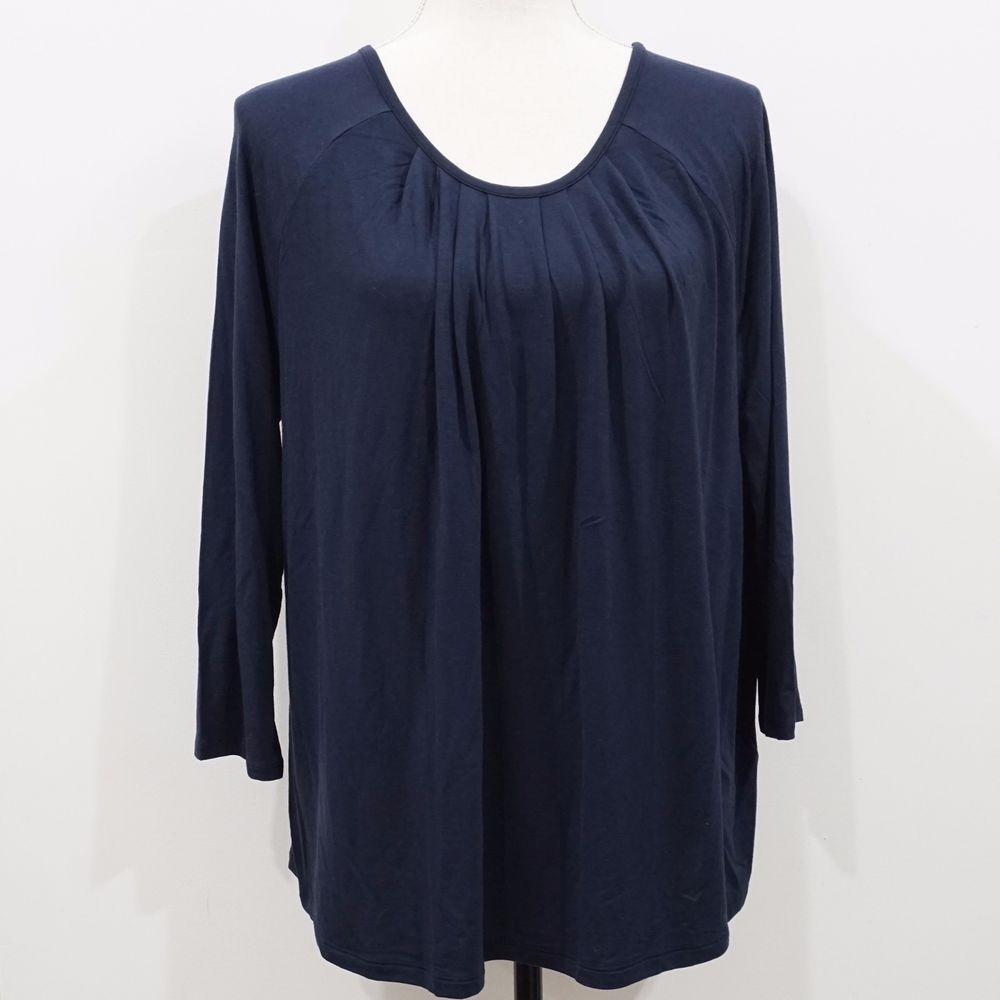 23674b99 Banana Republic Women Blue 3/4 Sleeve Pleated Top Size L #BananaRepublic  #Tunic #Casual
