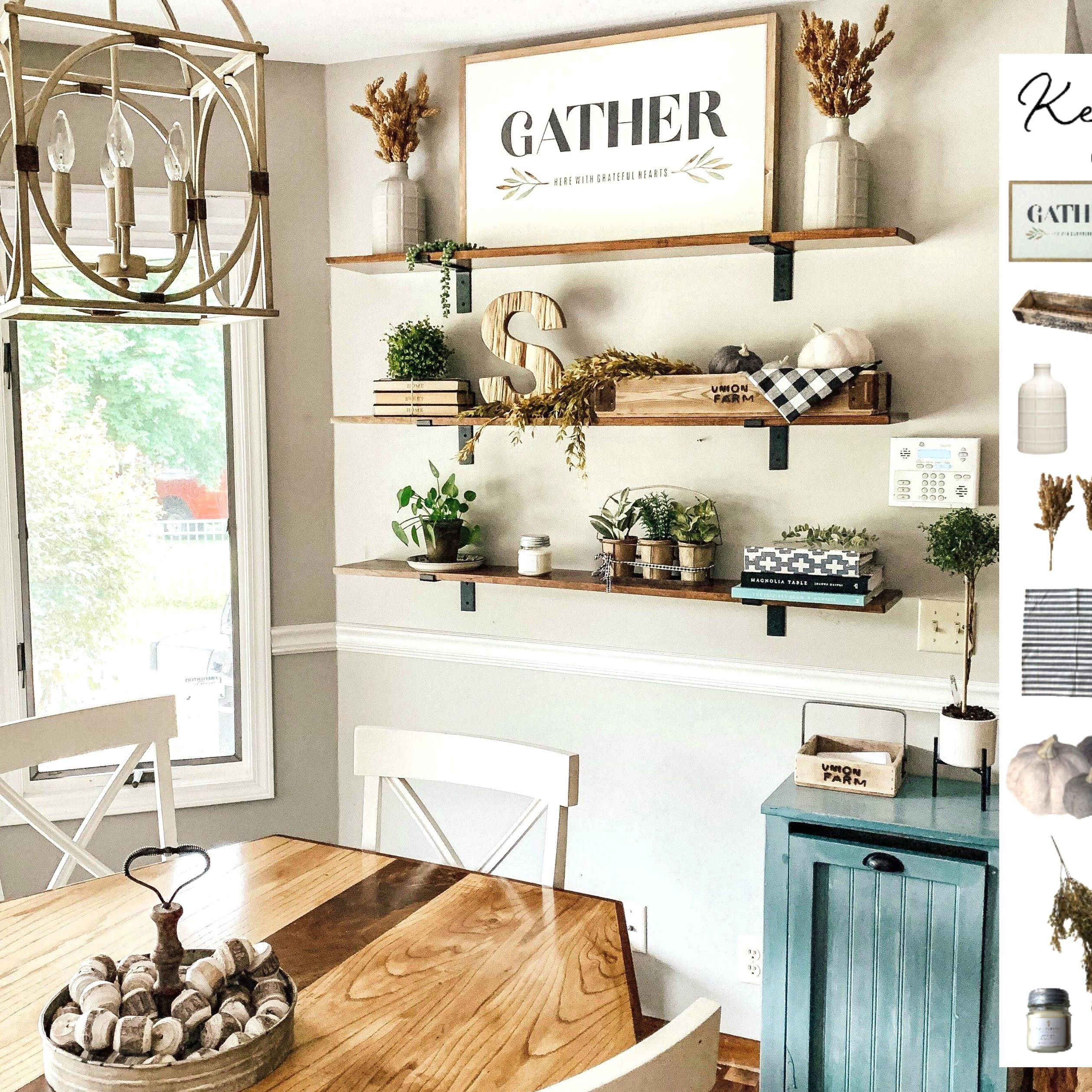 How to style your modern farmhouse open shelves with Fall