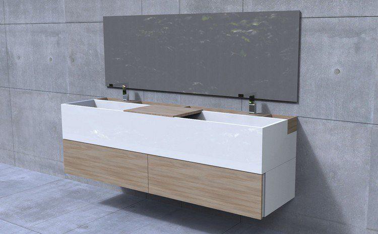 Meuble sous vasque salle de bain – 35 solutions design | Salle de ...