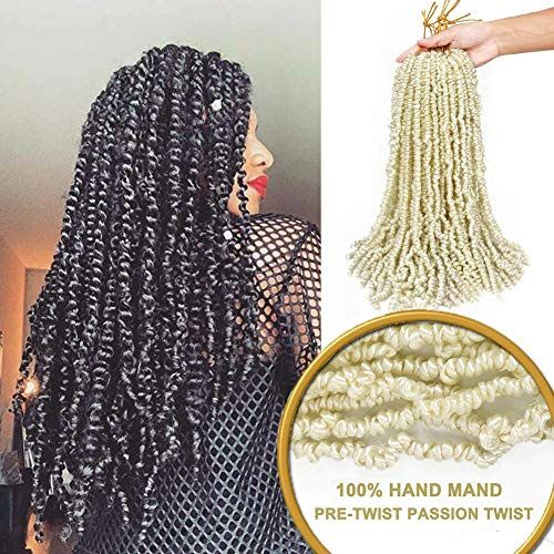 Enjoy exclusive for 3 Packs Pre-twisted Passion Twist Crochet Hair Pre-looped Passion Twist Pre-made Passion Twists Hair Crochet Passion Twist Hair Hair Extensions (18Inch, 613#) online - Allpremiumideas #passiontwistshairstylelong