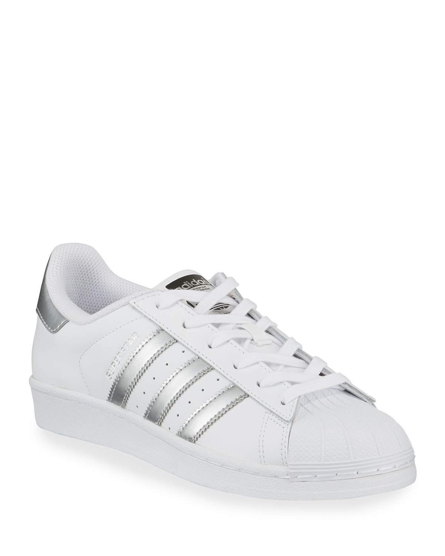 Adidas Superstar Original Fashion Sneakers White Silver Adidas