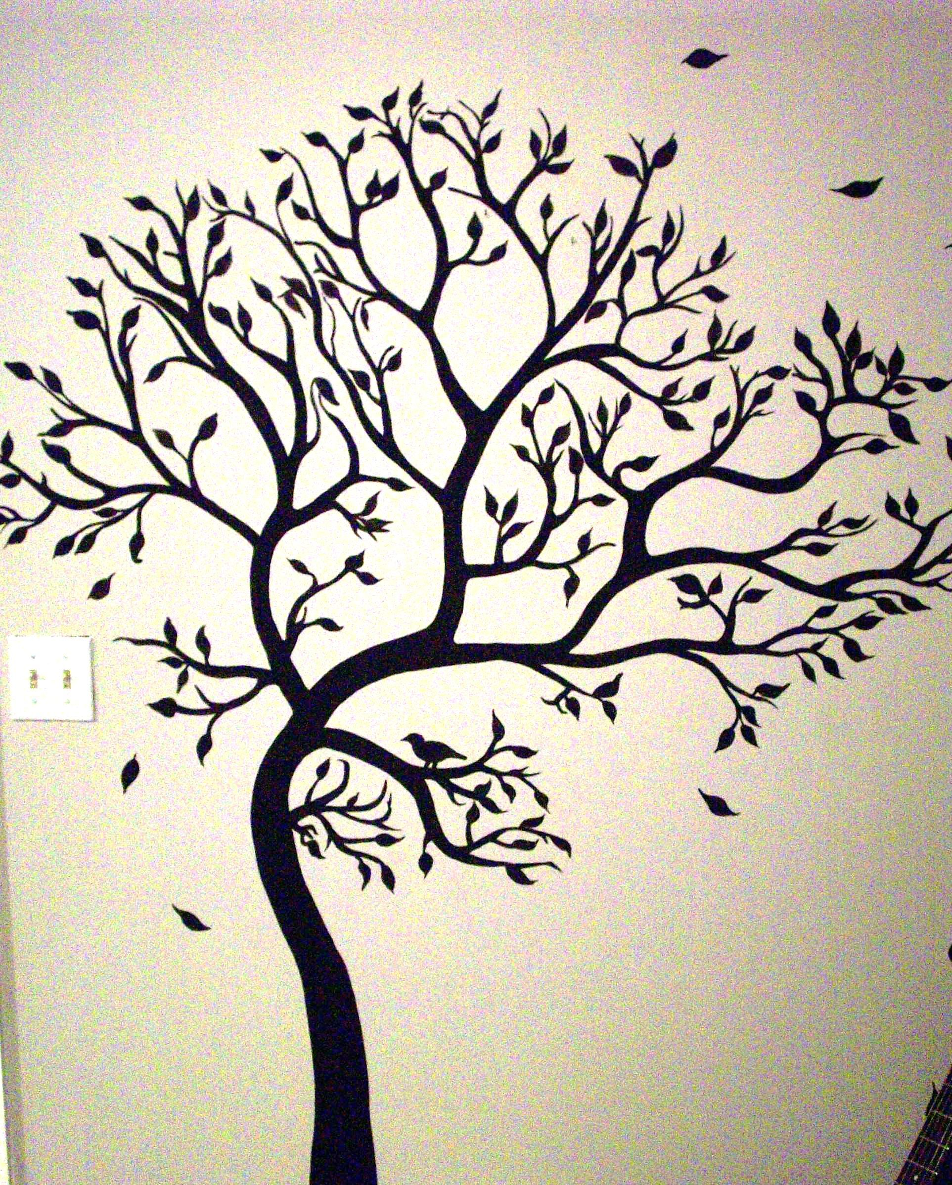 Family Tree Murals For Walls Mural Tree She Painted Mural Ideas Fonts Pinterest