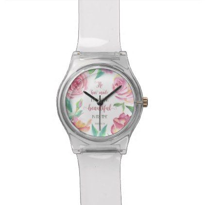 #beauty - #He Has Made Everything Beautiful Ecclesiastes 3:11 Wrist Watch