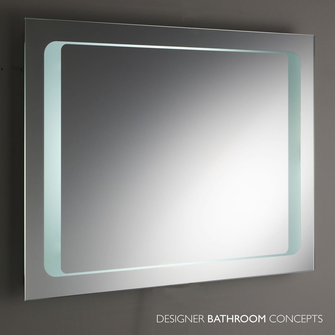 Insight Backlit Designer Bathroom Mirror With Motion Sensor Main For Stylish Interior Designs Ideas