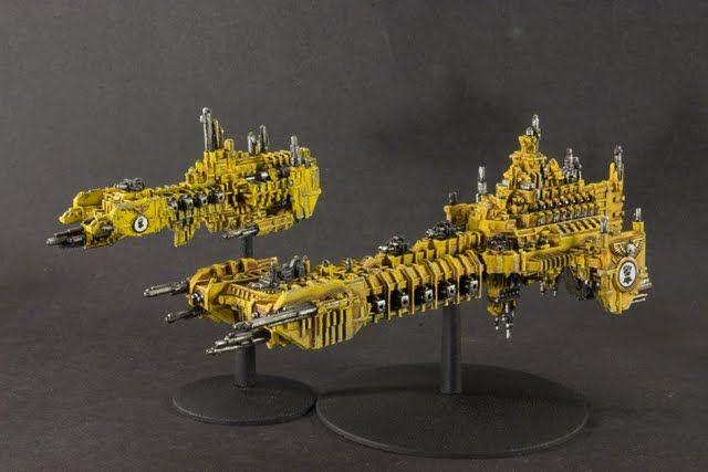 Imperial Fists Battlebarge Strike Cruiser Battlefleet Gothic