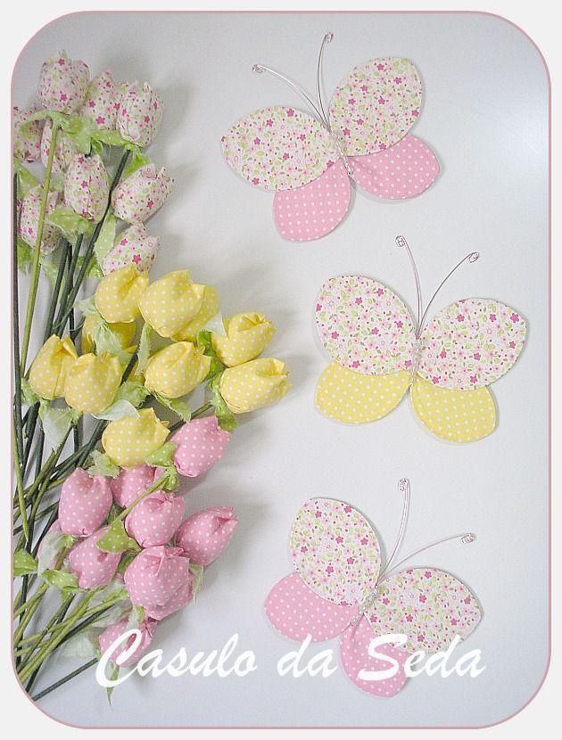 Flores de Tecido Com Meia de Seda   Artesanato - Cultura Mix
