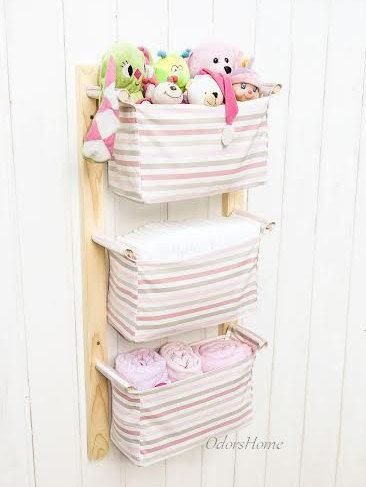 nursery storage baskets kids room storage nursery bins diaper caddy wall organizer change. Black Bedroom Furniture Sets. Home Design Ideas