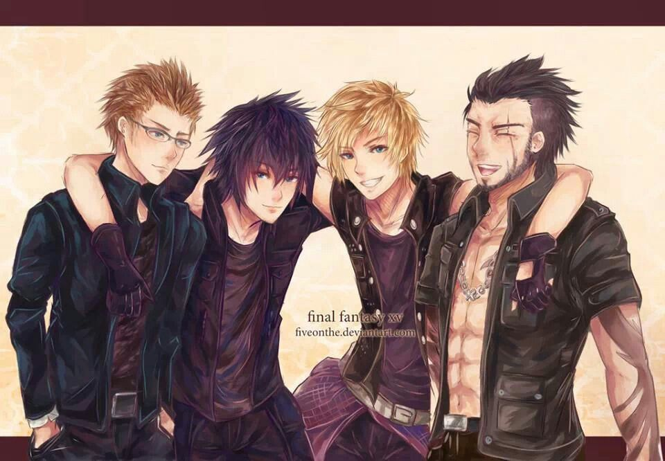 Image result for noctis and prompto happy new year
