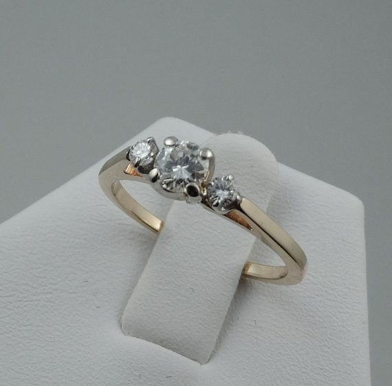 Classic 14K Yellow Gold Three Diamond Promise by rubylanejewelers