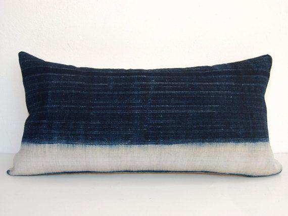 Pillowcase In Spanish Lumbar Pillow Hmong Pillow Cover Indigo Pillowdeliriumdecor