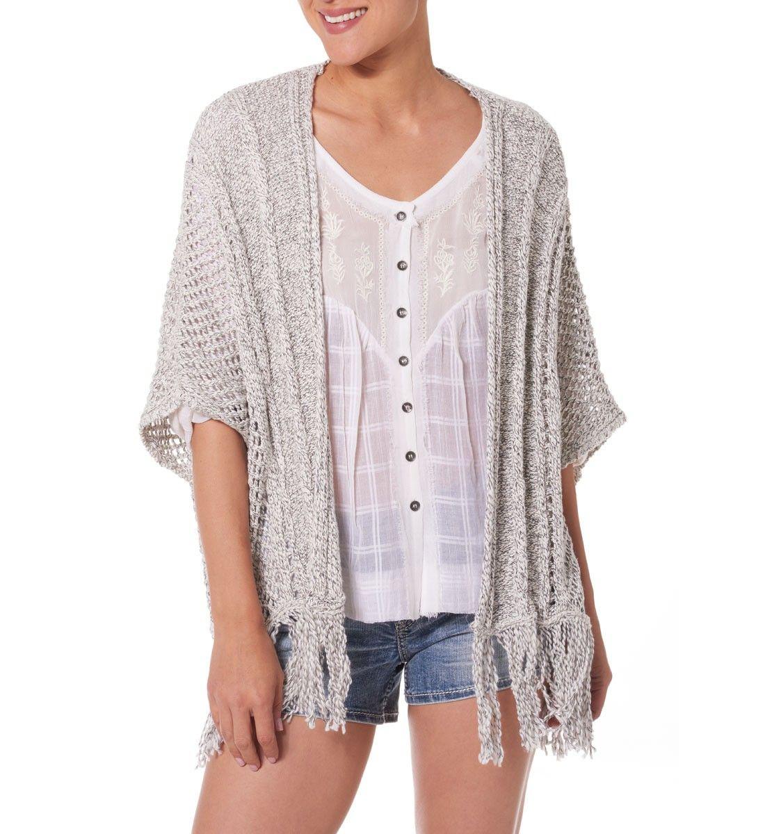 Short-sleeve Cardigan Sweater With Tassel   Kimono style, Short ...
