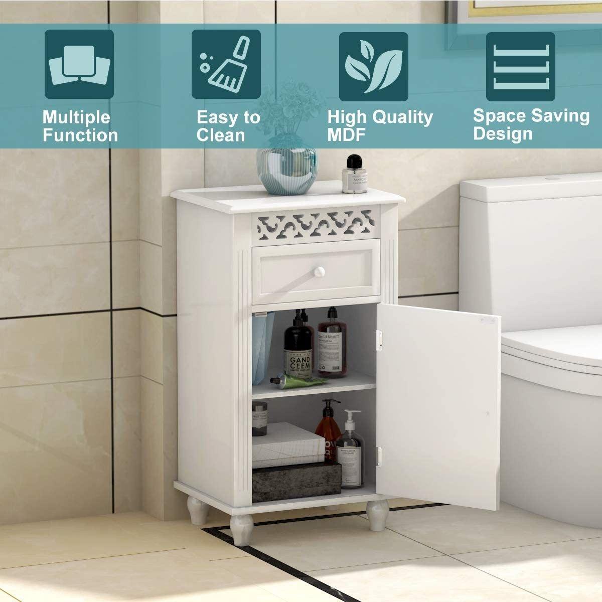 Ktaxon Bathroom Storage Floor Cabinet Wood Bathroom Cupboard Organizer Kitchen Collection Cabinet Shelf White Walmart Com In 2020 Cupboards Organization Wood Bathroom Wood Cabinets