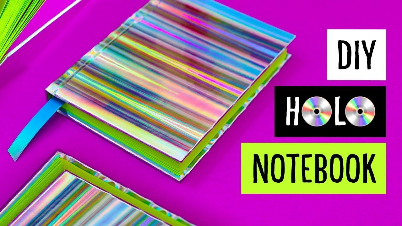 DIY HOLO NOTEBOOK! Holographic Casebound Hardcover Book