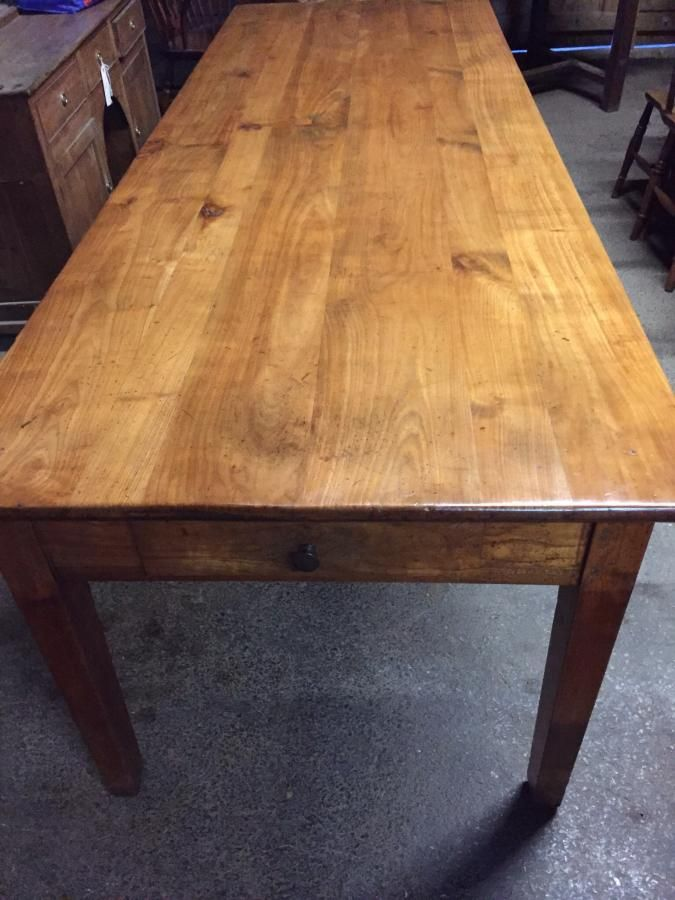 Antique Cherry 8ft Dining Table On Tapered Legs French Farmhouse Table Antique Dining Tables Dining Table