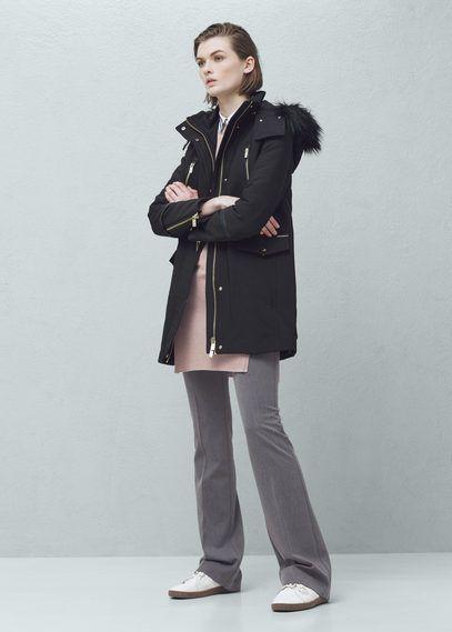 Kapüşonlu koton mont   MANGO   PARKA   Pinterest   Coat, Parka and ... e5f6f5a07019