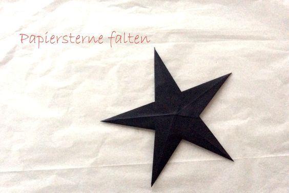 Papiersterne falten ::: basteln mit Kindern Im Advent