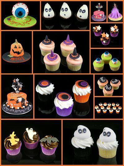 CERRADO! RETO ! DECORACION DE GALLETAS,QUEQUITOS Y PASTELES DE - cupcake decorating for halloween