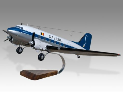 OZARK AIRLINES DOUGLAS DC-3 WALL CLOCK 1950s METAL