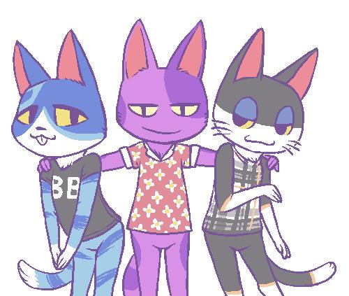 Doubutsu No Mori Lazy Cat Trio Animal Crossing Animal