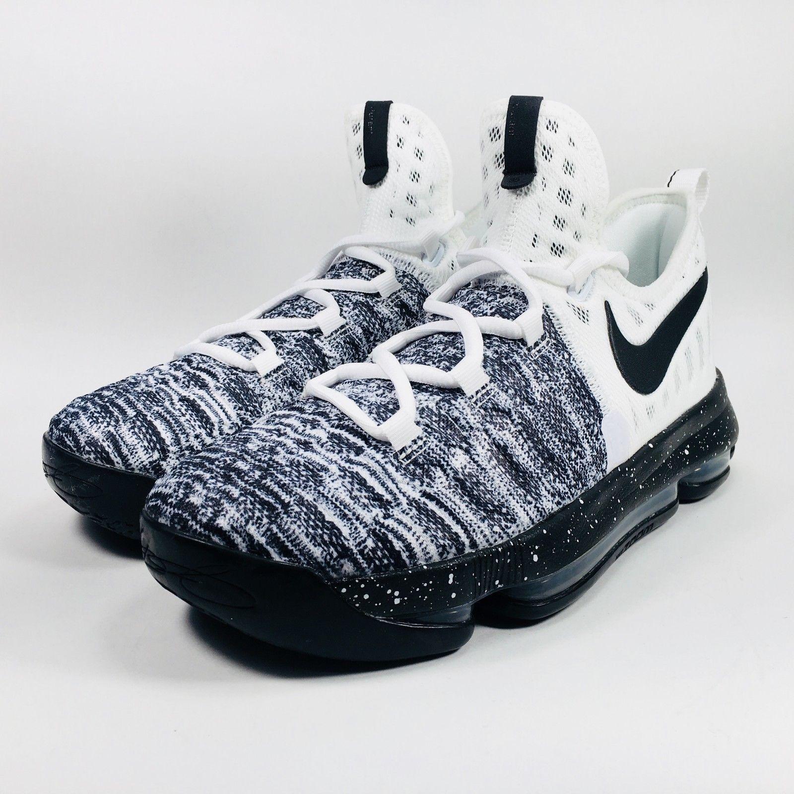 reputable site 1c714 d6d68 Nike KD 9 Oreo Big Kids White Black Basketball Shoes 855908-100 Youth Size  (eBay Link)