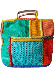 Madagascar Square Tote by #PerezSanz from Perez Sanz Online Trunk Show @Jill Meyers Schuldt Jp in #Taigan
