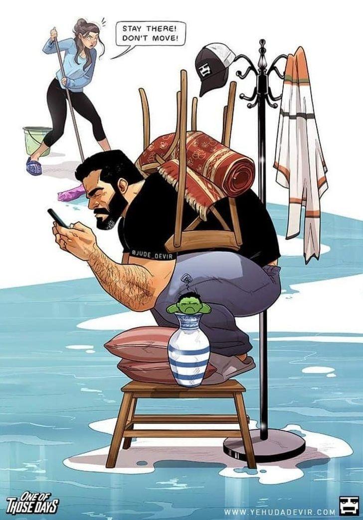 Yehuda Devir; an Israeli Artist Illustrates Crazy Moments of His Family Life in Amazing Comics | Suddl