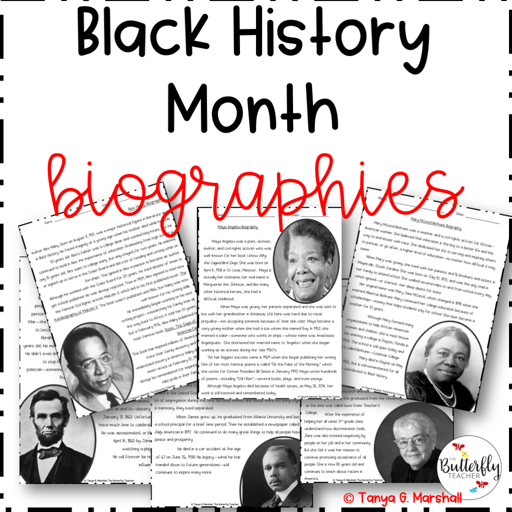 Resources On Culturally Responsive Teaching The Butterfly Teacher Black History Month Biographies Black History Month Reading Reading Passages [ 1022 x 1022 Pixel ]