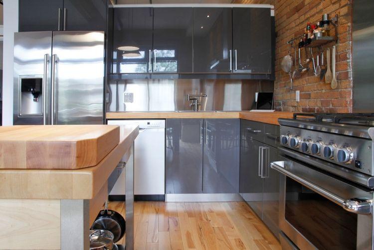 Holz Arbeitsplatten Machen Die Moderne Kuche Gemutlich Moderne Kuche Industrie Stil Inneneinrichtung Eklektische Kuche