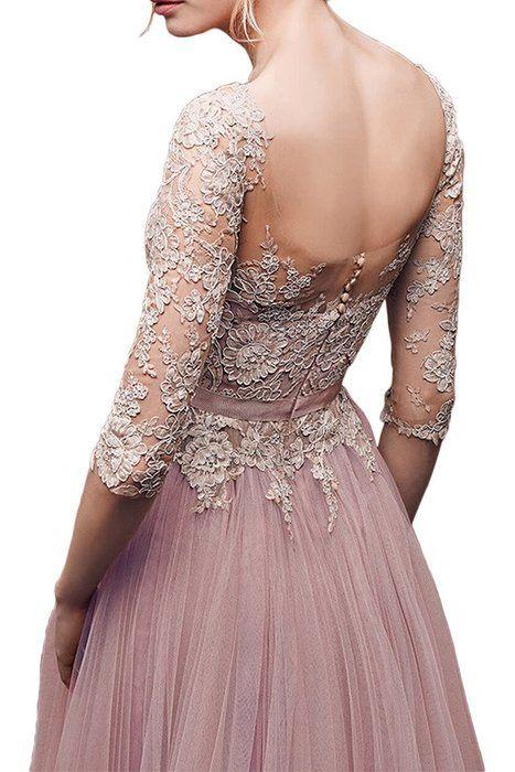 Kleid spitze langarm ruckenfrei