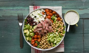 Chopped Greek Steak Salad with Yogurt-Lemon Dressing   RelishRelish