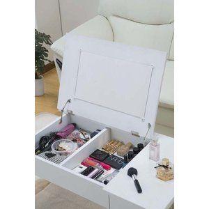 Photo of コスメテーブル コスメ台 メイク台 化粧台 ローテーブル ドレッサー 鏡台 ミラー 収納 Cosmetics Table メイクボックス ホワイト :sa-lt-900:私の家具屋さん – 通販 – Yahoo!ショッピング