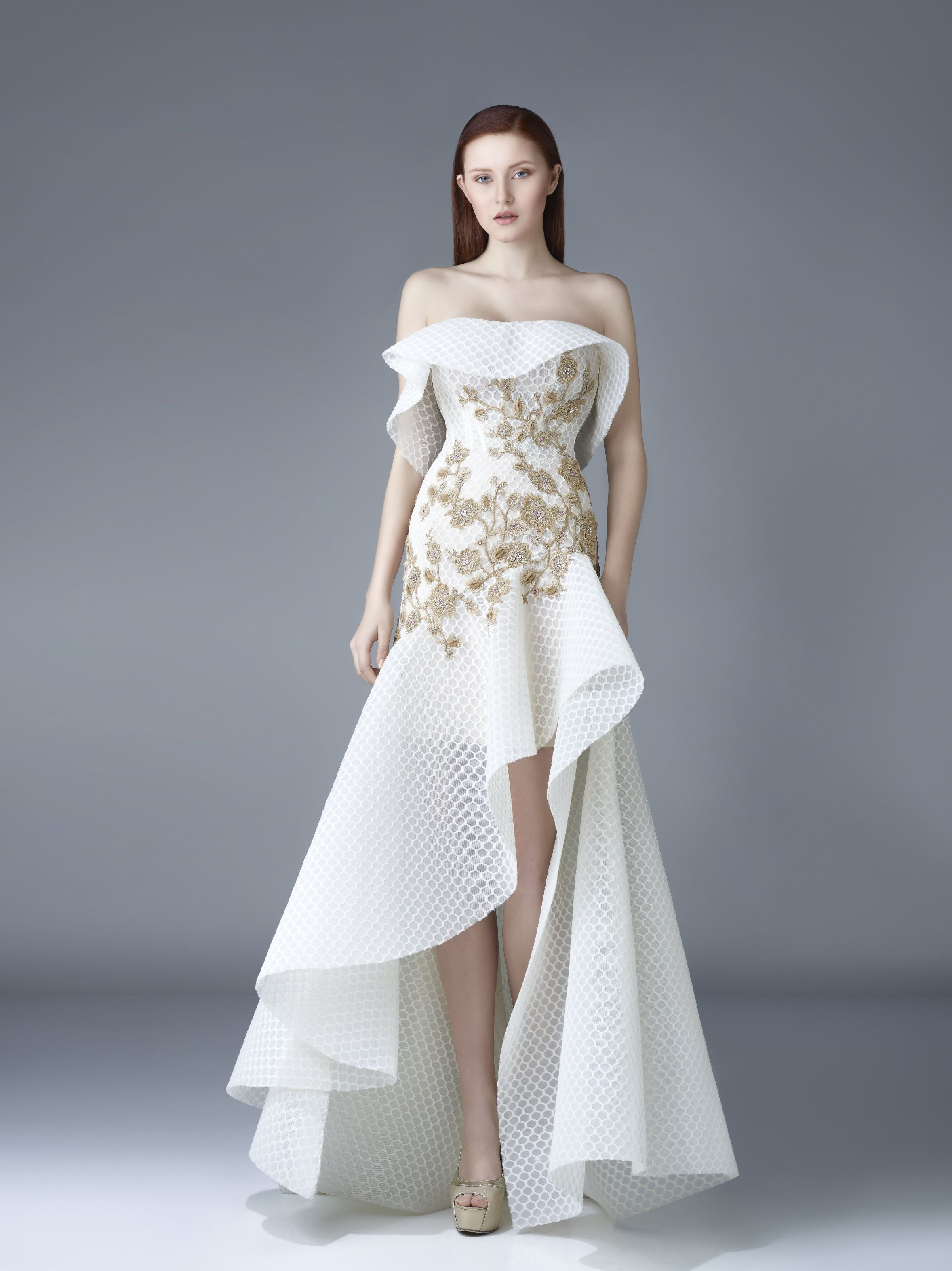 034313f385 Beside Couture by Gemy Maalouf Off the Shoulder Evening Gown BC 1181 ...