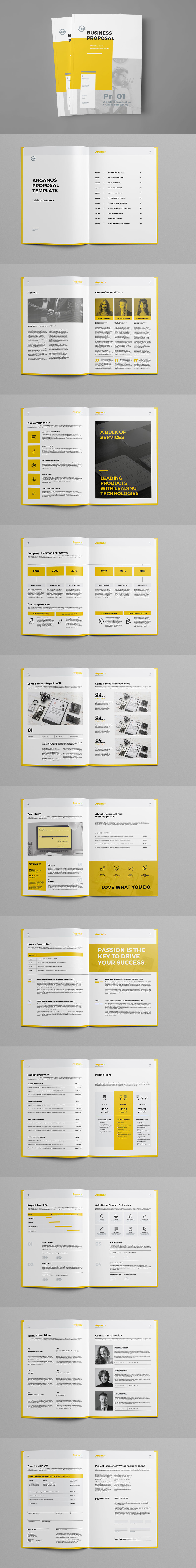 Minimal and Professional Proposal Template InDesign INDD - 24 Pages ...
