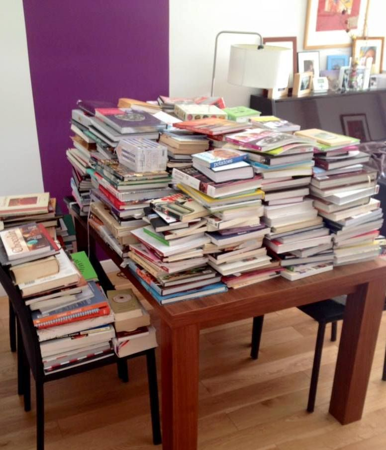 comment j ai r ussi trier mes 580 livres de cuisine garder vendre donner. Black Bedroom Furniture Sets. Home Design Ideas