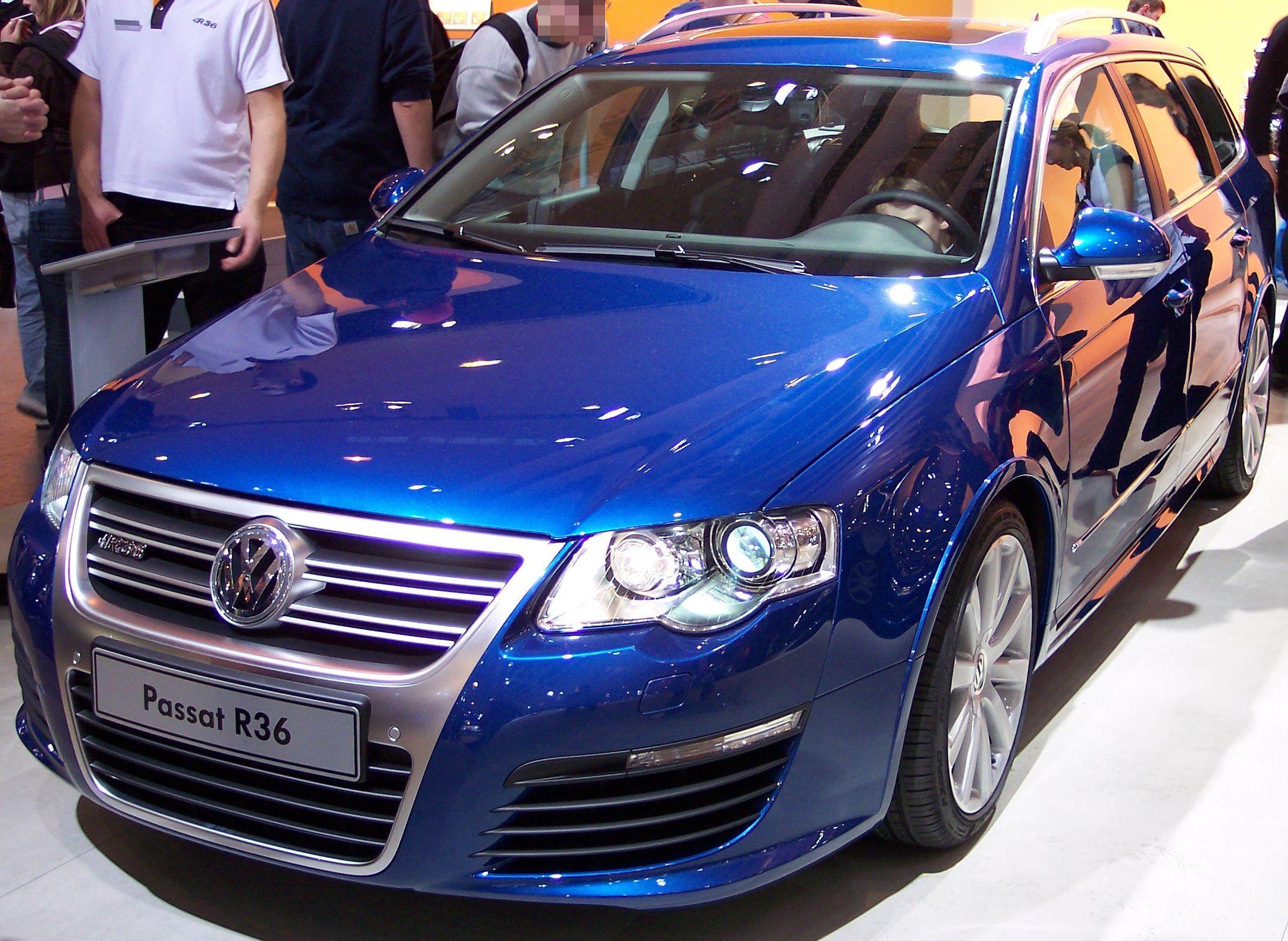 Volkswagen passat 2006 blue car wallpapers