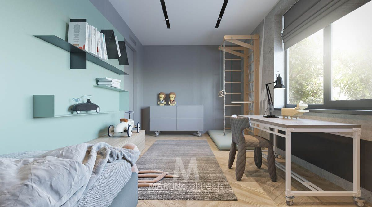 Nice Cool Apartment With Contemporary Calming Color Scheme Boy Room, Nursery  Room, Contemporary Home Decor